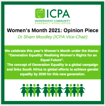 Women's Day 2021:  Opinion Piece Dr Sham Moodley (ICPA Vice Chair)